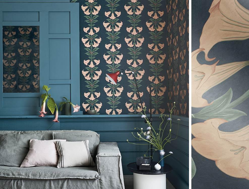 Nappes papiers peints photos tapisseries peintures murales Belles Roses ligne skizzeart kn-3164