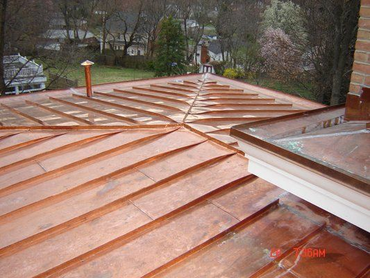 Unweathered Copper Copper Roof House Exterior Exterior