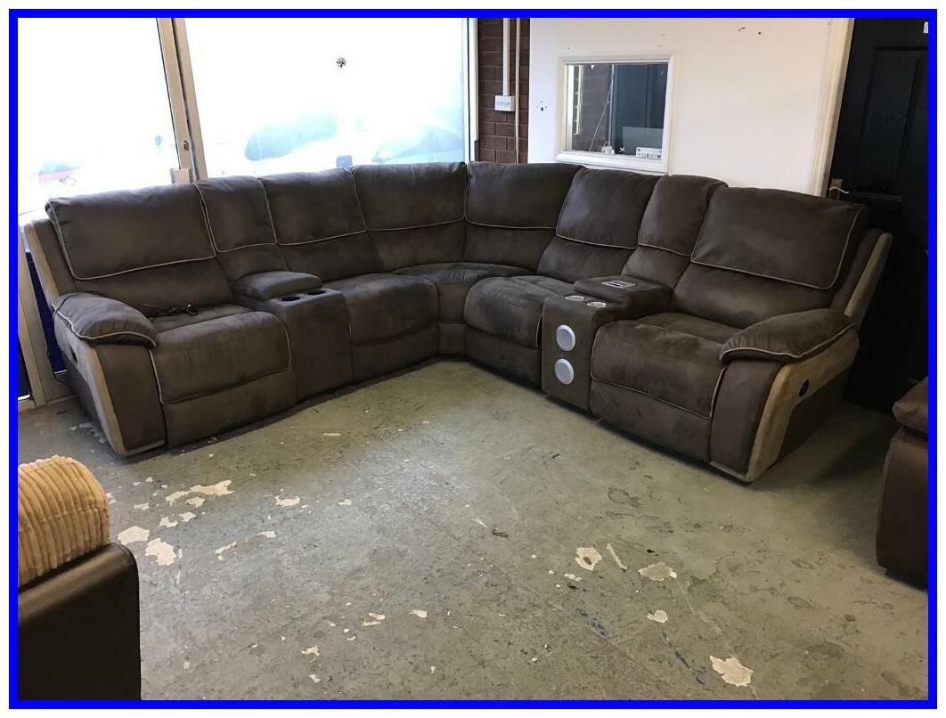 recliner corner sofa with cup holders