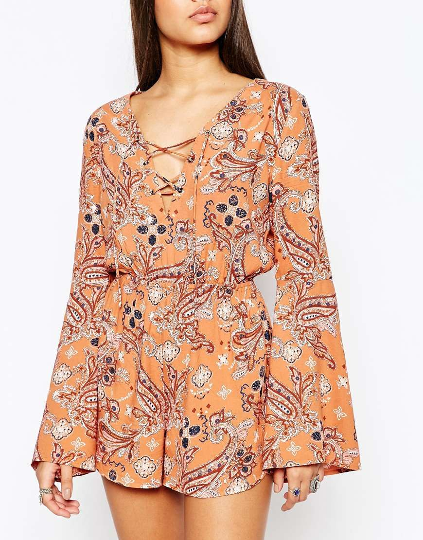Image 3 of Abercrombie & Fitch Lace Up Playsuit | PLAYSUIT ...
