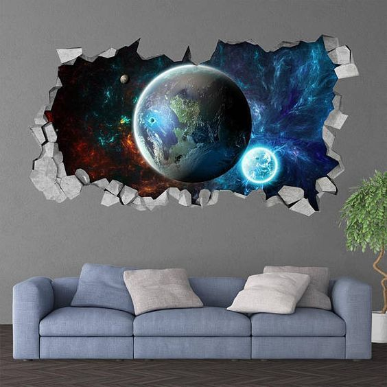 Wall Decal Wall Stickers Furniture 3d effect ceiling Astronaut world