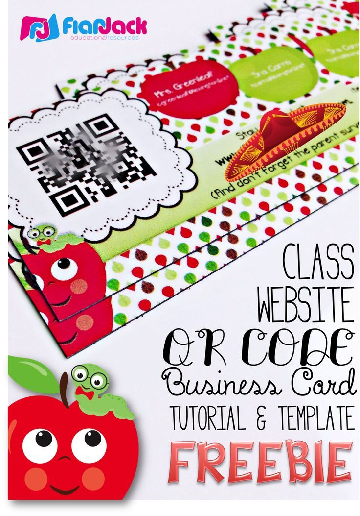 Class Website QR Code Business Cards Template FREEBIE - Create your ...