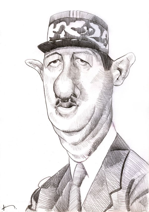 De Gaulle | Caricatures | Caricature, Sketches et Art