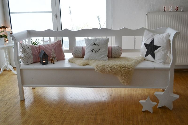 schwedische k chenbank truhenbank shabby von stubengl ck auf truhenbank. Black Bedroom Furniture Sets. Home Design Ideas