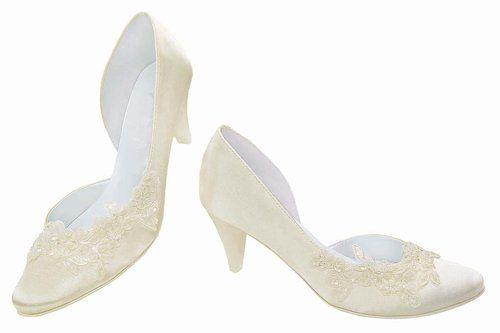Brautschuhe mit edler Spitze, Pumps, Absatzhöhe 6 cm: Amazon.de: Schuhe & Handtaschen