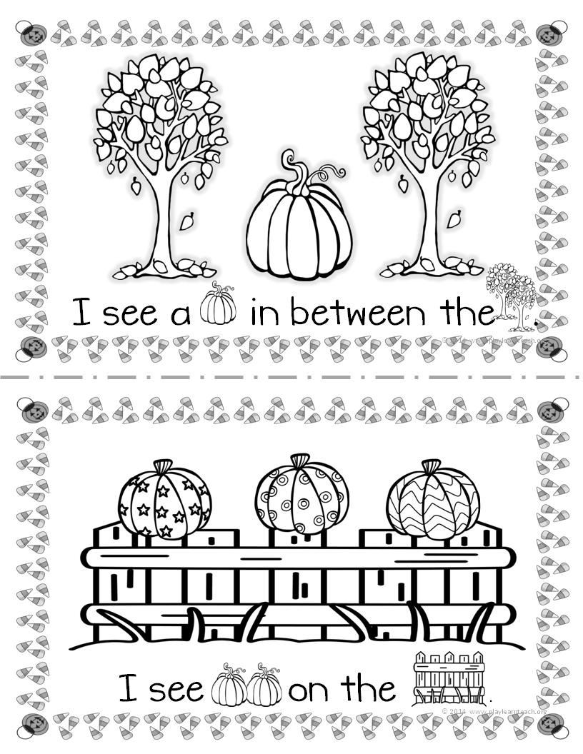 Spatial Concepts Pumpkin Adapted Books Fall Kindergarten Fall Classroom Ideas Fall Lessons [ 1056 x 816 Pixel ]