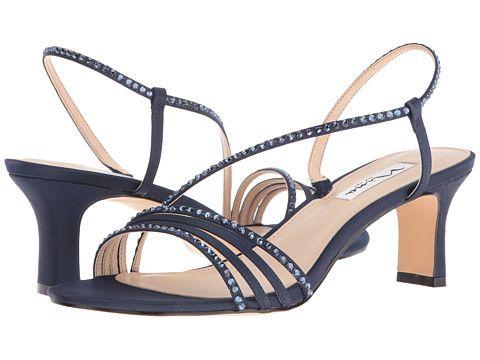 Nina Gerri Navy High Heels Womens Fashion Shoes