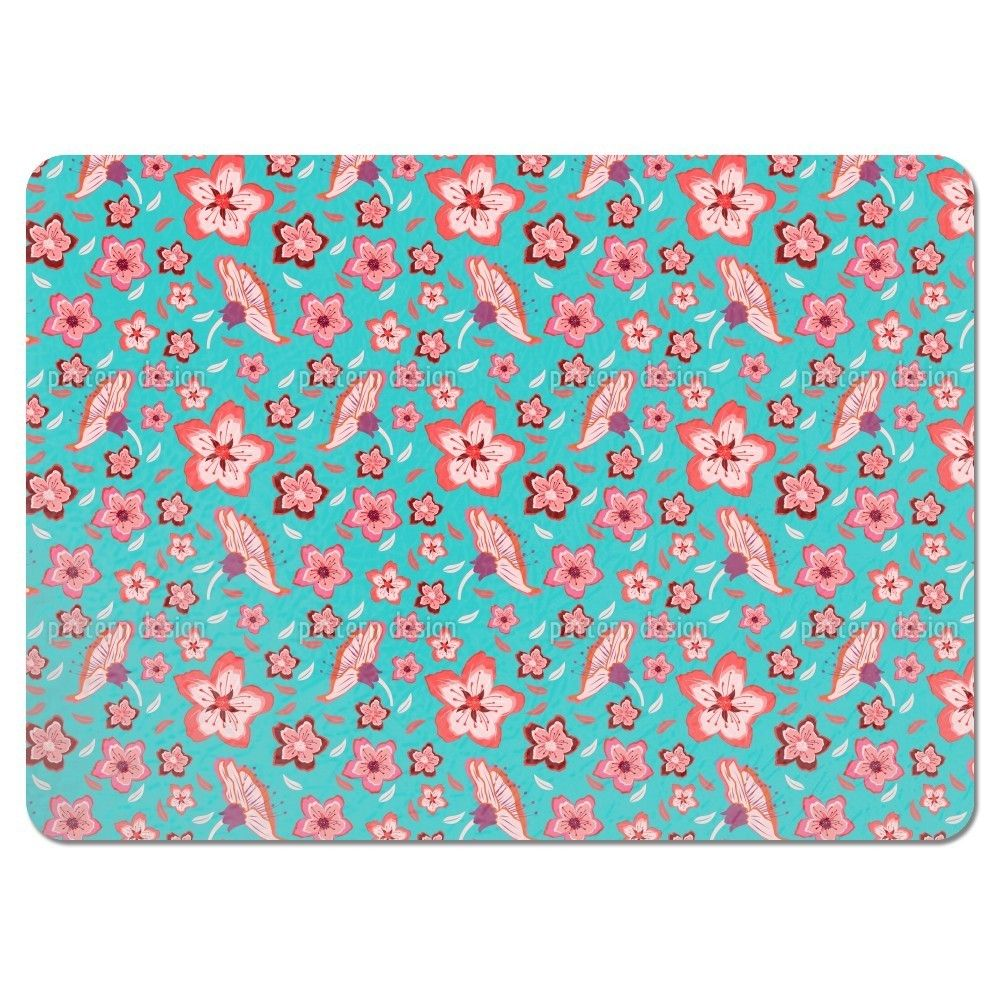 Uneekee Exotic Flower Power Placemats