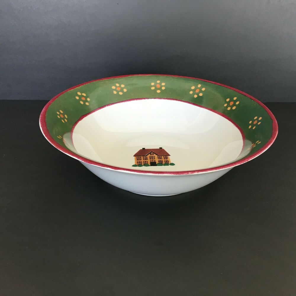 Vintage Block Country Village Round Vegetable Serving Bowl 9 1 8 Block In 2020 Bowl Cup And Saucer Set Serving Bowls