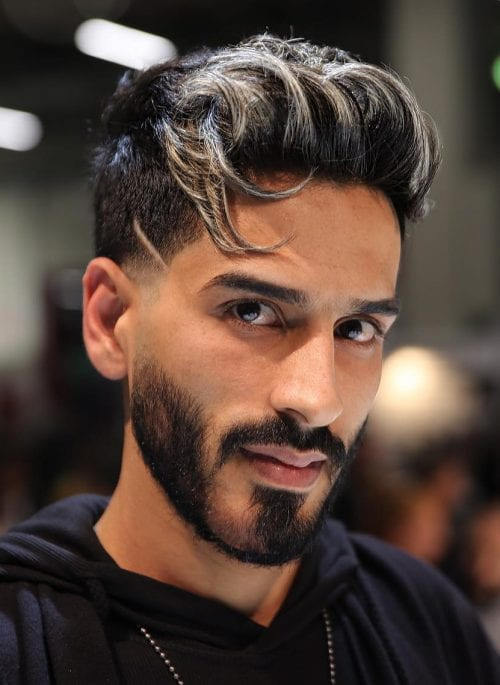 Front Highlights Top 27 Stylish Highlighted Hairstyles For Men 2020 Men S Hair Color Highlights And Id In 2020 Mens Hair Colour White Hair Highlights Hair Highlights