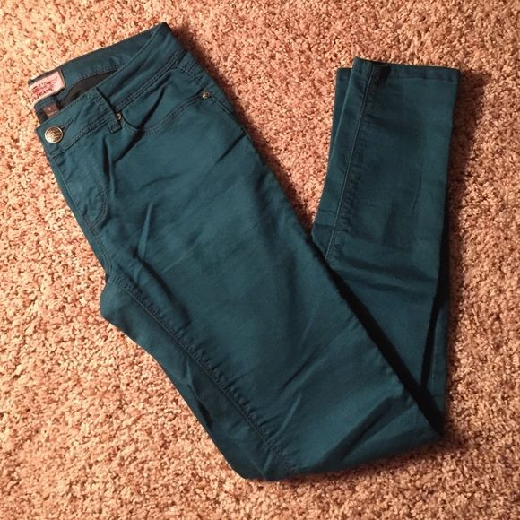 Teal jeans ! Teal. Jeans. Size 3. Worn 1x. Size too big for me. Iris Pants