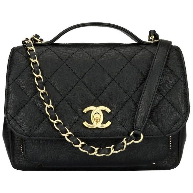 bc46fd564edd CHANEL Business Affinity Medium Black Caviar with Champagne Hardware 2017 |  From a collection of rare vintage crossbody bags