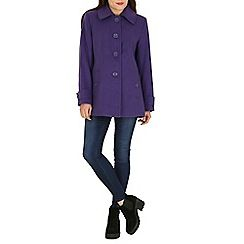 David Barry - Purple faux cashmere duffle coat | Autumn/Winter 16 ...