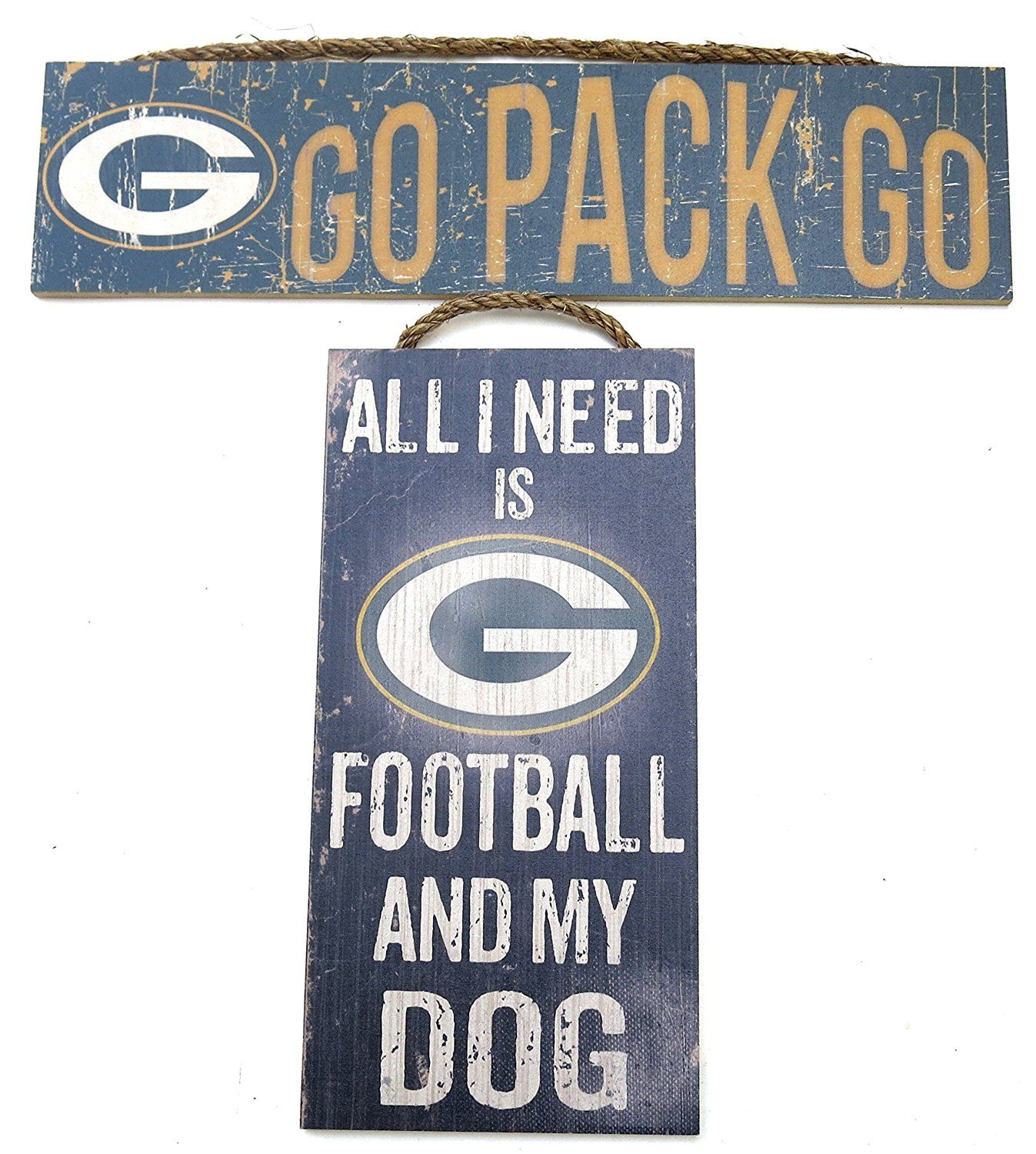 Green bay packers nfl wall decor set of two plaques dog all green bay packers nfl wall decor set of two plaques dog all i need is my dog and my team and go pack go team slogan sign set of two amipublicfo Image collections