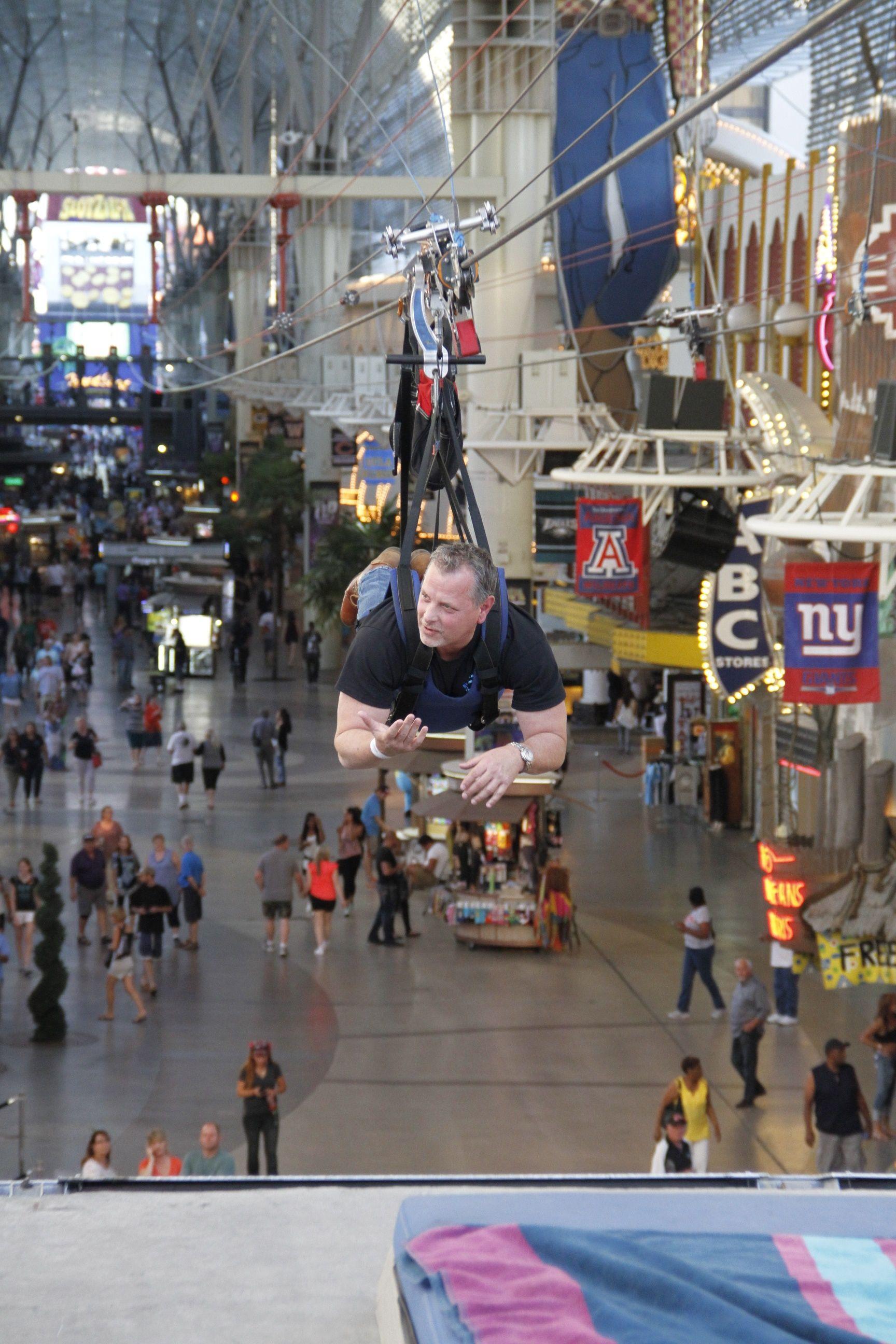 Ziplining at RightSourcing's 2015 Summit in Las Vegas, NV