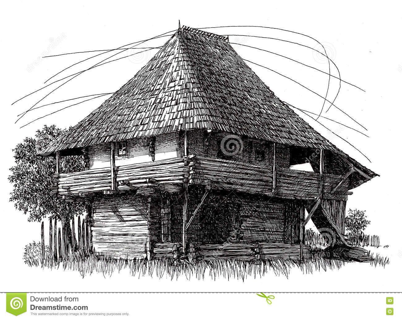 Line Art House : House fineliner by dreamywindy on deviantart