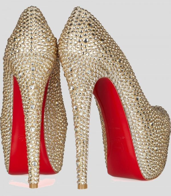 8c5429adda36 The Christian Louboutin Daffodile 160 is Covered in Gems  holiday  heels  trendhunter.com