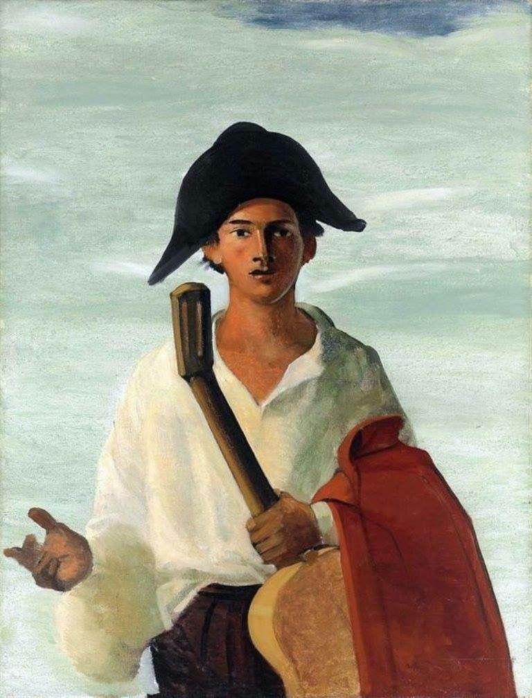 André Derain - Arlequin tenant une guitare, c. 1930.   Pierrot ...