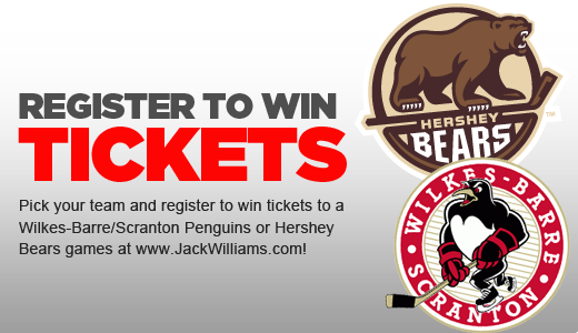 Win Tickets To See The Hershey Bears Or Scranton Wilkes Barre Penguins Enter For Your Chance To Win Here Http Www Jackwil Win Tickets Wilkes Barre Scranton