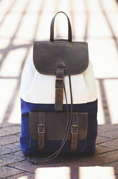Beautiful backpack http://shesaidsaidshe.wordpress.com/2013/04/04/get-rowdy/    #backpack #handbag #blue #color blocking