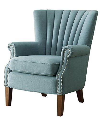 homelegance essex modern wingback accent chair with nail heads