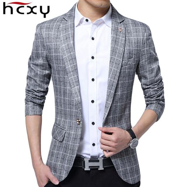 Check Lastest Price HCXY 2017 Spring New Designer Blazer Men Fashion Suit Jacket Menu0026#39;s Casual ...