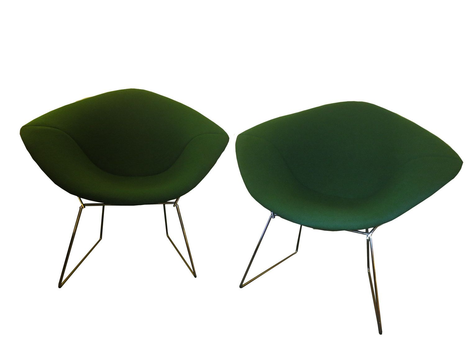 1950\'s Green Diamond Chairs by Harry Bertoia for Knoll by ...