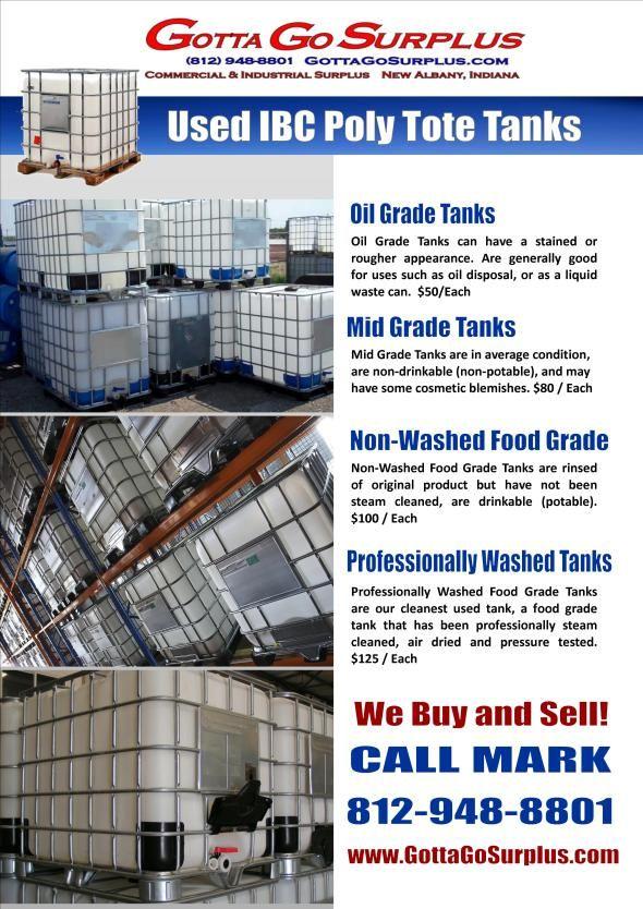 275 Gallon Ibc Poly Tote Aquaponics Food Grade Barrels Water Storage