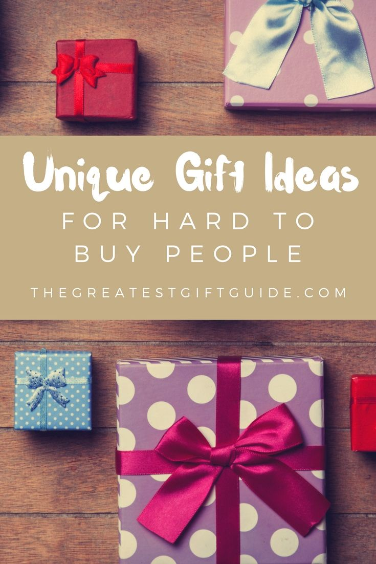 15 Unique Gifts For Hard To Buy People | Birthday, etc. - Gift ideas ...