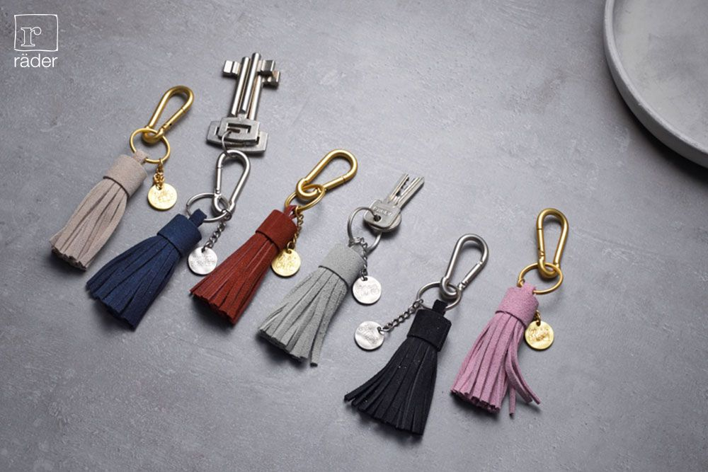 Schlüsselanhänger Schlüsselblätter kupfer Räder
