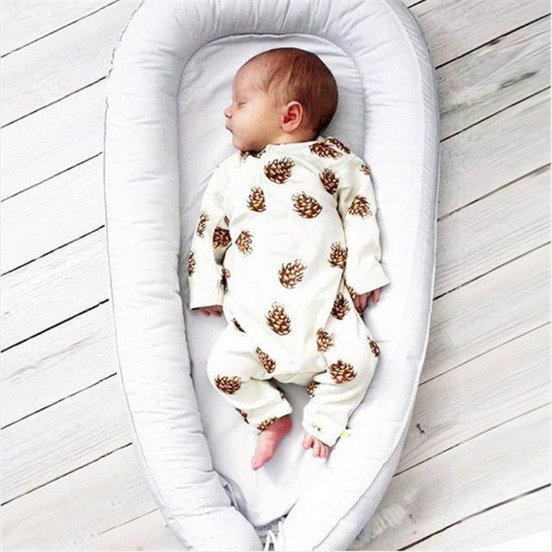 Newborn Baby Boy Girl Clothes Long Sleeve Pineal Full Print Baby ...