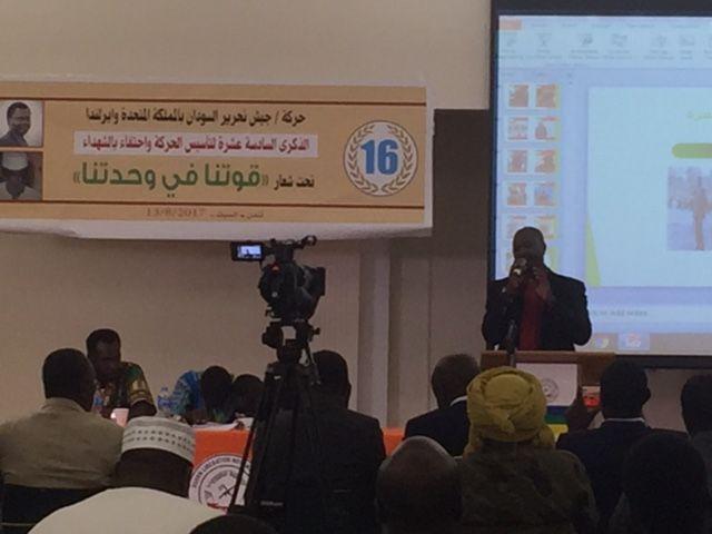 كلمة إتحاد دارفور بالمملكة المتحدة في ذكرى إحياء عيد الشهداء والذكرى رقم ١٦ لتأسيس حركة جيش تحرير السودان / مناوي  اً