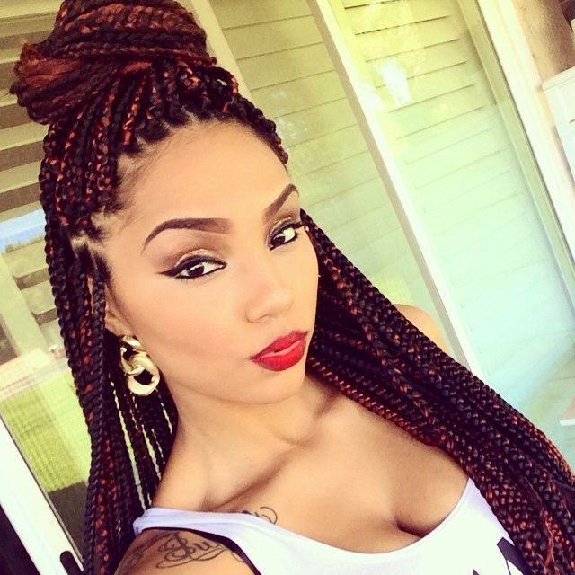 box braids ombre two tone black brown hair style african