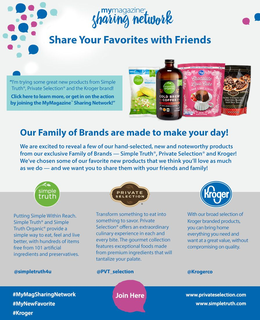 I'm excited to try these new products from Kroger and its
