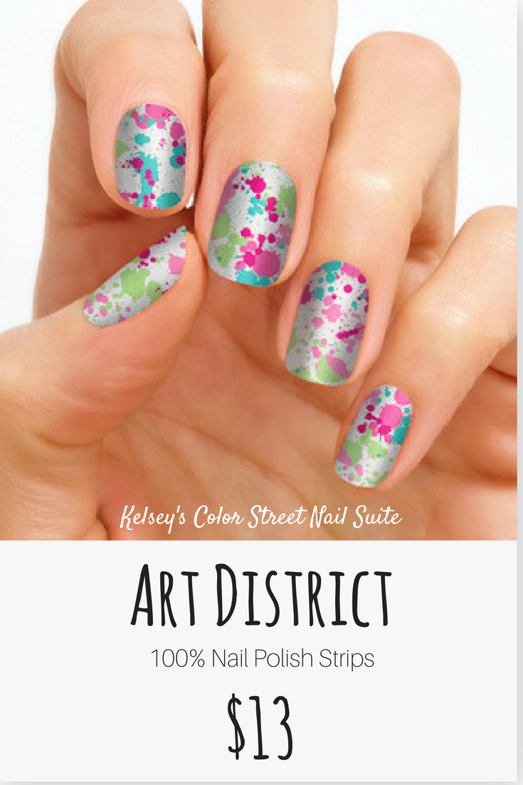 Color Street Art District. Paint splatter nail art. Apply dry for a ...