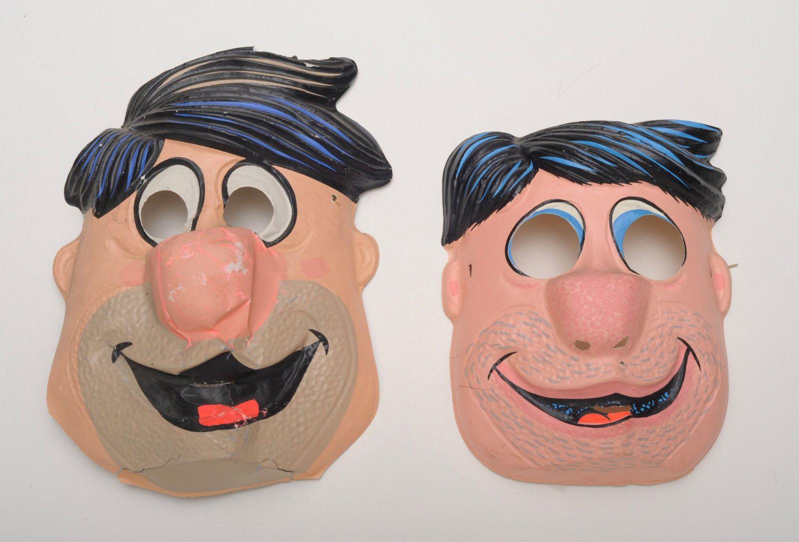 2 Fred Flintsone plastic Vintage Collegeville Ben Cooper