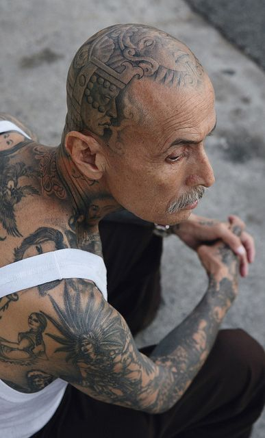 Cholo Tattoos Face: Pin On Tattoos