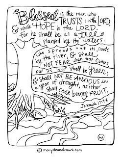 Strength For Today And Bright Hope For Tomorrow As A Tree Printable Coloring Page Bible Verse Coloring Page Bible Verse Coloring Bible Coloring