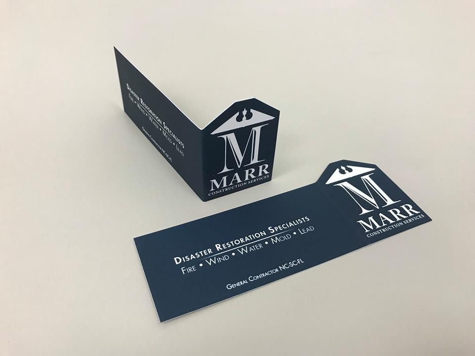 Custom die-cut business cards! We can print and die-cut any shape ...