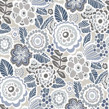 Lucy Grey Floral Wallpaper Grey Floral Wallpaper Peel And Stick Wallpaper Wallpaper Samples