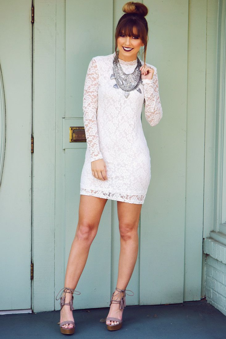 Share to save 10% on your order instantly! Just Say Yes Dress: White ...