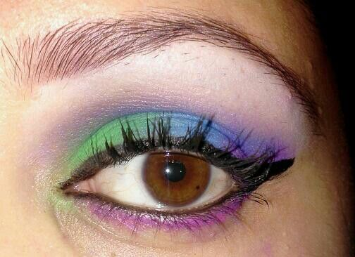 peacock with a pop of pink.