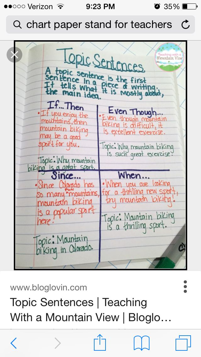 Topic sentence starters | 3rd Grade Writing | Pinterest | Writing ...
