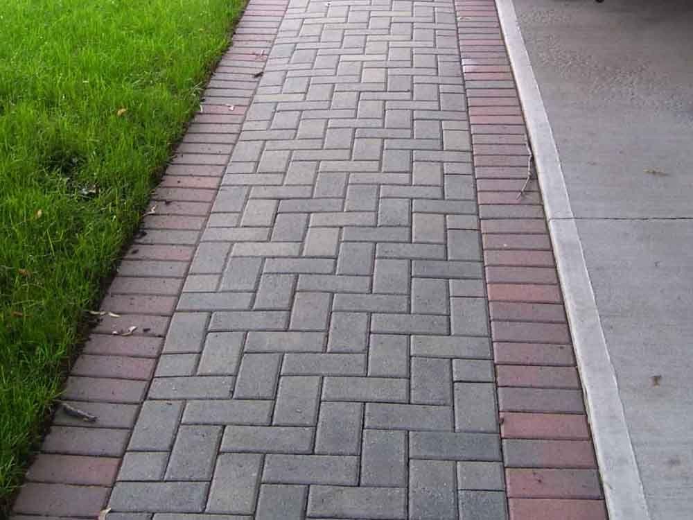 Brick Paver Walkway For Side Yard