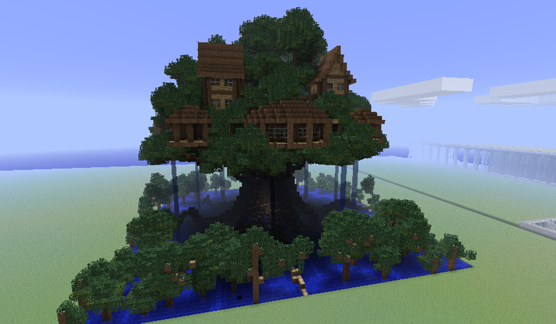 Minecraft tree houses things for scott pinterest for Explore craft survival pe