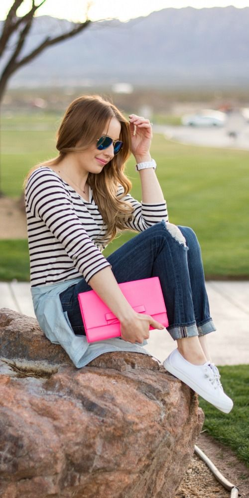Laid back casual outfit wearing sperry