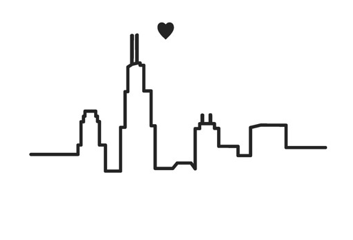 Chicago Skyline Outline Simple Maybe For Ankle Tattoo Chicago Skyline Tattoo Skyline Tattoo Chicago Tattoo