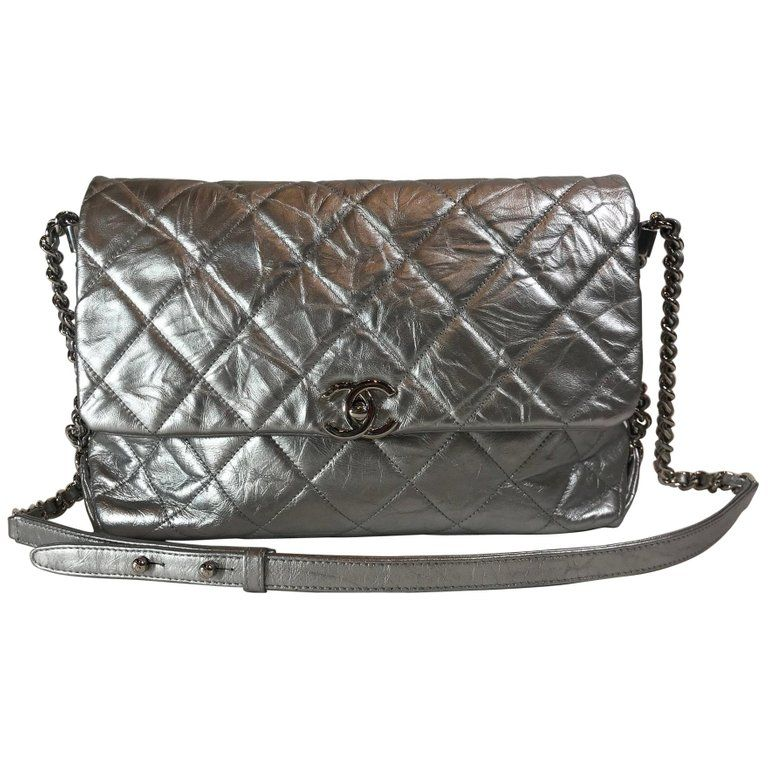 ab240c7ce316 Chanel Metallic Crumpled Calfskin Big Bang Flap Bag | Chanel bag in ...