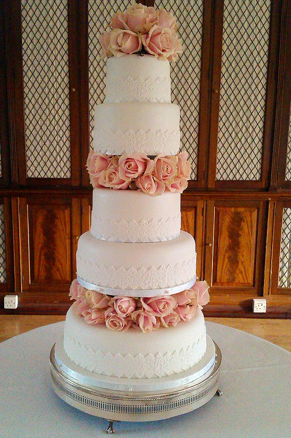 5 tier simple wedding cakes