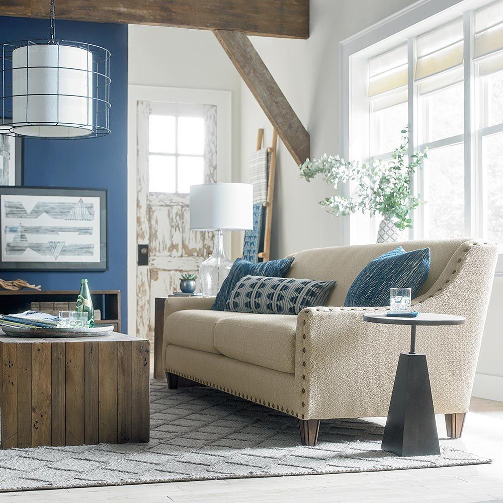 Wyatt Sofa By Bassett Beautiful Fabrics Gorgeous Finishes